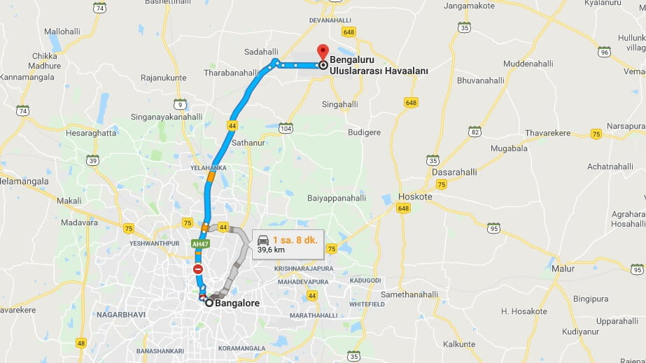 Bangalore Havaalanı Şehir Merkezi Ulaşım Nasıl Gidilir