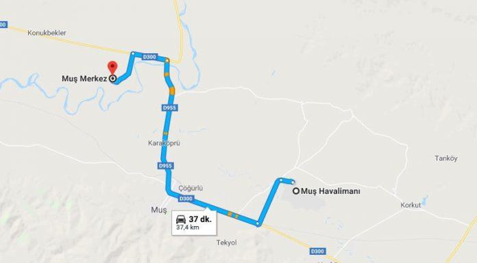 Muş Havaalanı Şehir Merkezi (Tatvan - Bitlis) Ulaşım Nasıl Gidilir