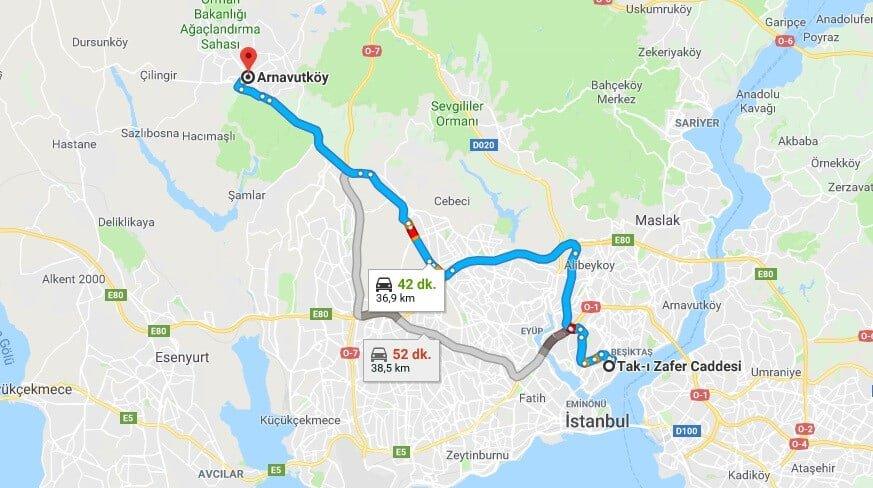 Taksim'den Arnavutköy'e Nasıl Gidilir