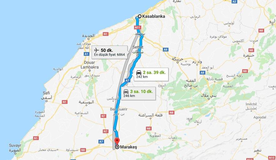 Kazablanka Marakeş Trenle Nasıl Gidilir
