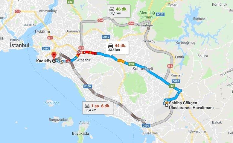 Sabiha Gökçen'den Kadıköy'e Nasıl Gidilir