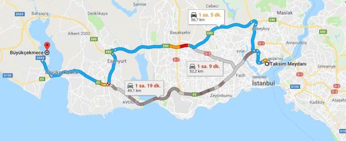 Taksim'den Büyükçekmeceye Nasıl Gidilir