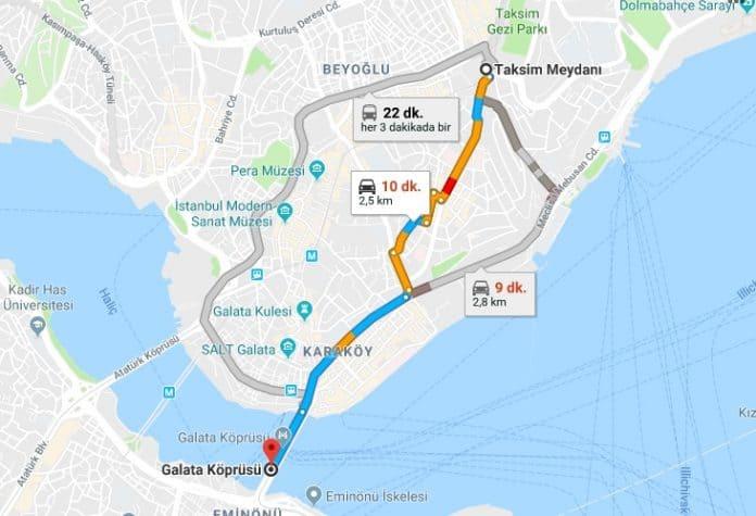 Taksimden Galata Kulesi ve Köprüsüne Nasıl Gidilir