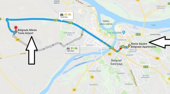 Belgrad Havalananından Şehir Merkezine Ulaşım