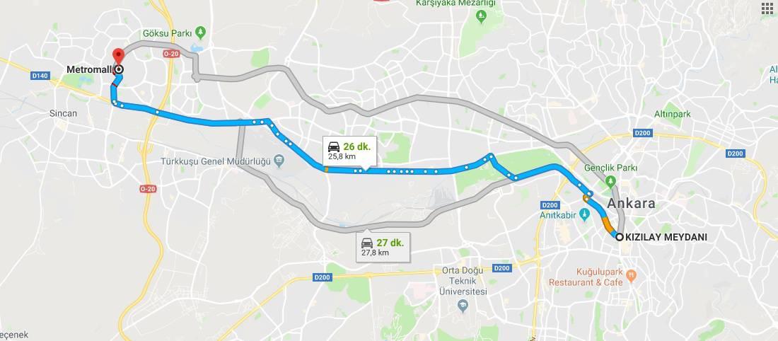 Metromall AVM Nerede, Nasıl Gidilir