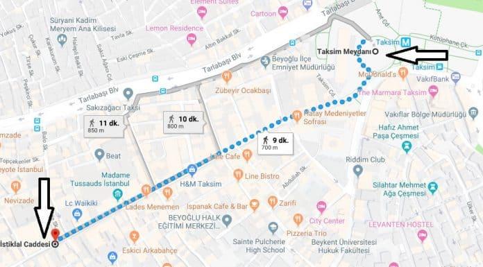 İstiklal Caddesi Nerede, Nasıl Gidilir?
