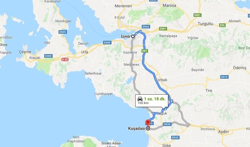 İzmir'den Kuşadası'na nasıl gidilir