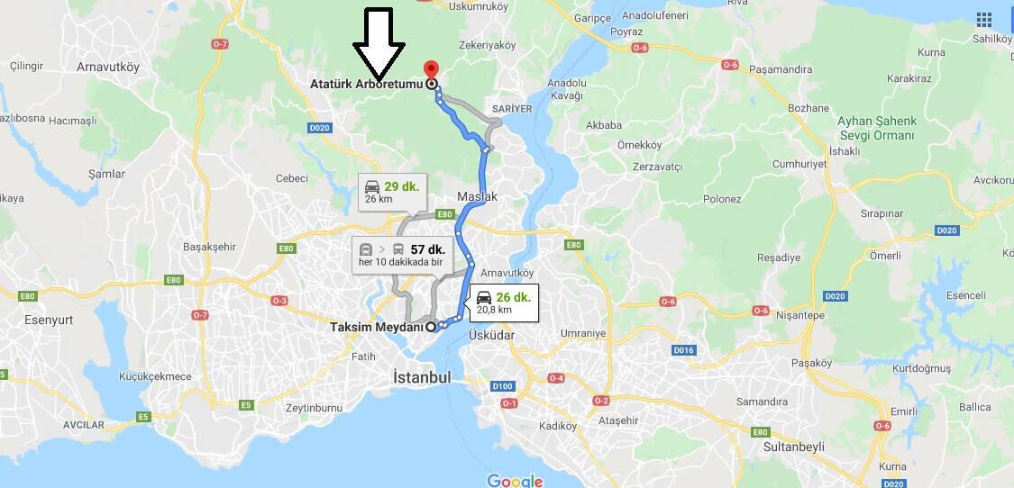 Atatürk Arboretumu Nasıl Gidilir?