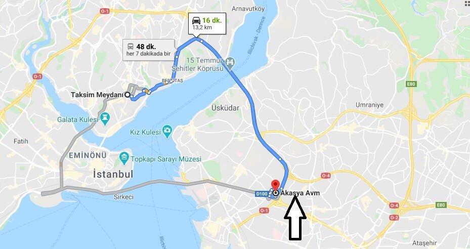Akasya Avm Nasıl Gidilir? Akasya AVM metro durağı hangisi