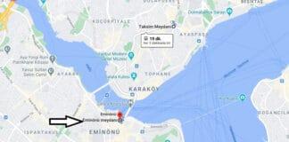 Taksim'den Eminönü'ne nasıl gidilir?