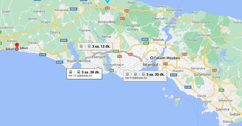 Taksim'den Silivri'ye Nasıl Gidilir?