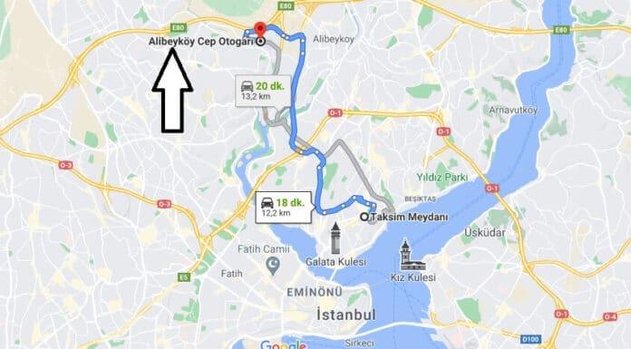 Taksimden Alibeyköy Otogara nasıl gidilir